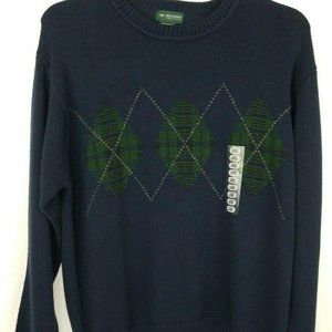 Dockers Recode mens Sweater L Blue green argyle